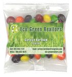 Custom Business Card Magnet w/Small Bag of Skittles