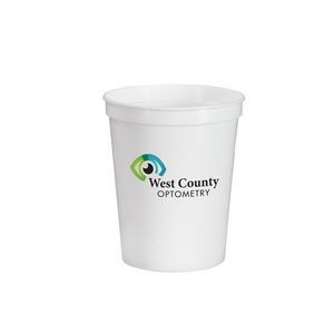 16 oz. Full Color Stadium Cup - White