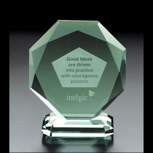 Octoman Octagon Jade Glass Award