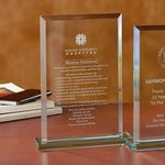 Custom Beveled Rectangle - Large Award