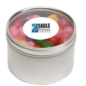 Standard Jelly Beans in Lg Round Window Tin