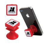 Custom Red Suction Cup Phone Stand and Cord Wrap