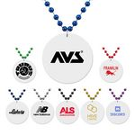 Custom Medallion Bead Necklace w/White Medallion
