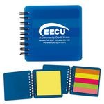Custom Spiral Notepad w/ Sticky Notes & Flags