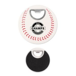 Baseball Coaster Bottle Opener