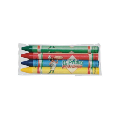 4 Pack Custom Crayons in Cello Wrapper