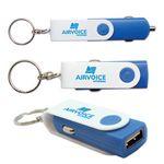 Custom USB Car Charger Key Chain