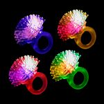 Custom LED Flashing Porcupine Ring