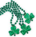 Custom 7 mm Bead Necklaces w/ Shamrock Medallions