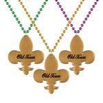 Custom Fleur-de-Lis Medallion Beads