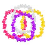Custom Silk Flower Leis with Medallions