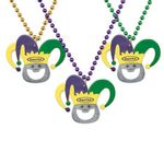 Custom Mardi Gras Bottle Opener Beads