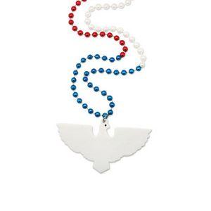Custom Patriotic Eagle Medallion Beaded Necklace
