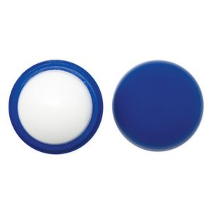 Custom Blue Lip Balm Ball w/ Rounded Applicator
