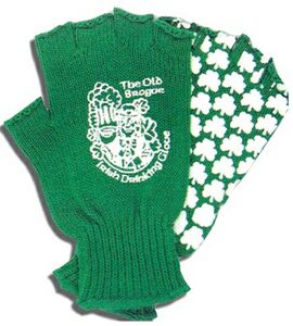 Beer-Drinking Gloves, Fingerless, Print 2 Sides
