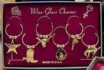 Custom Marken Design Wine Charms Set - Western