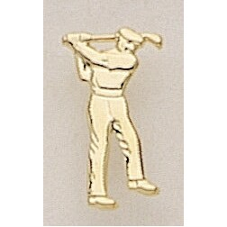 "Male Golfer Marken Design Cast Lapel Pin (Up to 7/8"")"