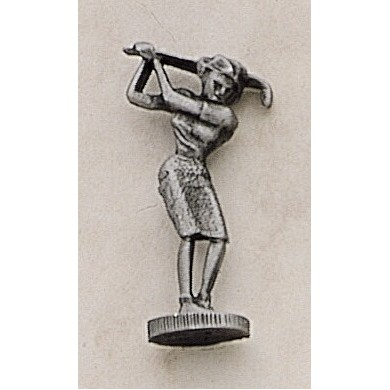 "Female Golfer Marken Design Cast Lapel Pin (Up to 1 1/4"")"