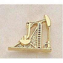 "Pump Jack Marken Design Cast Lapel Pin (Up to 3/4"")"
