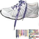 Custom Printed Biodegradable White Shoe Laces (36