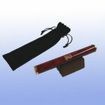 Custom Burgundy Marbleized Brass Kaleidoscope w/ Pouch