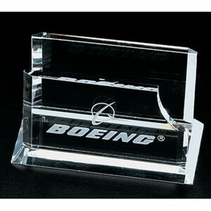Optical Crystal Business Card Holder (Screened)
