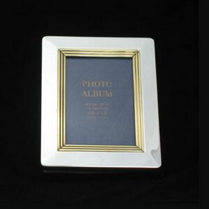Gold/Silver Two Tone Metal Photo Album (Screened)