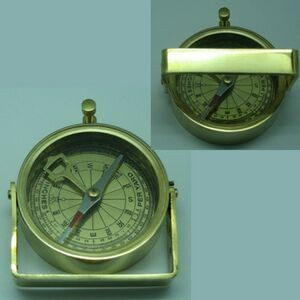 Brass Handle Compass (Screen printed)