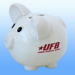 Custom Jumbo White Ceramic Piggy Bank