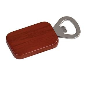 Magnetic Rectangle Shape Bottle Opener (Rosewood)