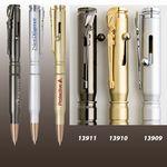 Custom Satin Chrome- Brass Bullet Ball Point Pen