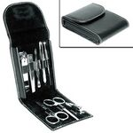 Custom 8 - PC Grooming Set Leather Case (engraved )