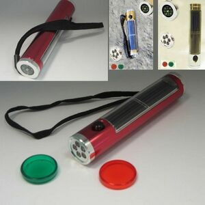 Solar Powered Flash light with compass (Screen)