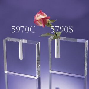 Clear Crystal Vase Side Holder