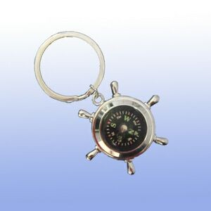 Key Ring W/A Wheel Compass (Engraved)