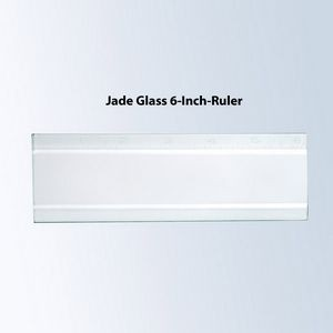 6 Inch Jade Glass Ruler