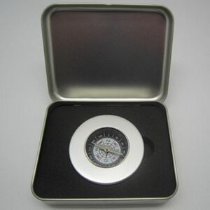Silver Compass in Tin Box