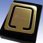 Custom Brass Square Shaped Bookmarker