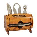 Custom 4 pc Barrel Wine Tool Set