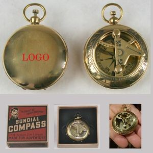 Solid Brass Sundial and Compass
