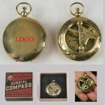 Custom Solid Brass Sundial and Compass