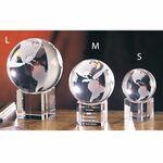 Custom Spinning Globe Optic Crystal (Large)