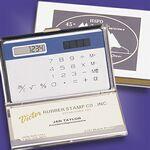 Custom Silver-Like Cardholder & Calculator