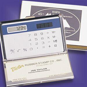 Silver-Like Cardholder & Calculator