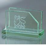 Custom Jade Glass Business Card Holder (Screened)
