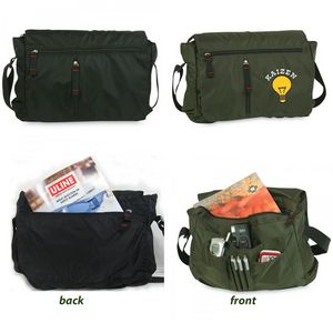 Lightweight Nylon Messenger Bag