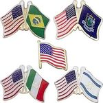 Custom Amcraft - Flags Stock Lapel Pin