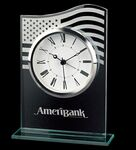 Custom Glass US Flag Alarm Clock