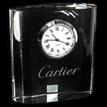 Custom Mini Designer Crystal Clock Rectangle