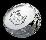 Custom Crystal Paperweight (Diamond Round)